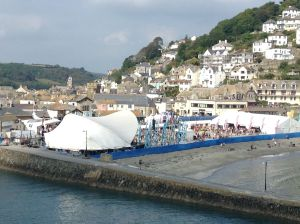 Looe was kept occupied with stages, bars and quayside kept alive with sound of music.
