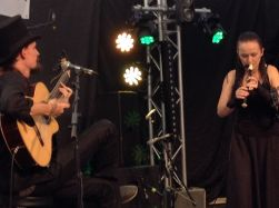 Czech duo Perkelt played ancient and modern tunes on guitar, recorder and vocals.